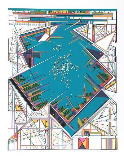 City 363-Risaburo Kimura-Serigraph