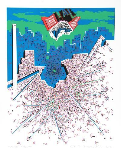 City 380-Risaburo Kimura-Serigraph