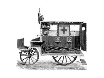 City Ambulance, 19th Century-Science Photo Library-Giclee Print