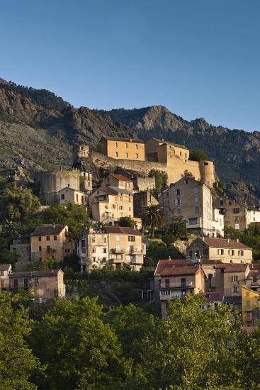 City and Citadel, Corte, Corsica, France-Walter Bibikow-Photographic Print