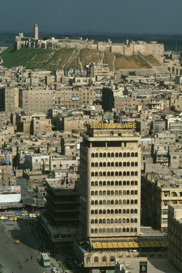 City and Citadel of Aleppo Seen from the New Town Hall--Photographic Print