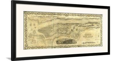 City and County of New York, c.1836-J^ H^ Colton-Framed Art Print