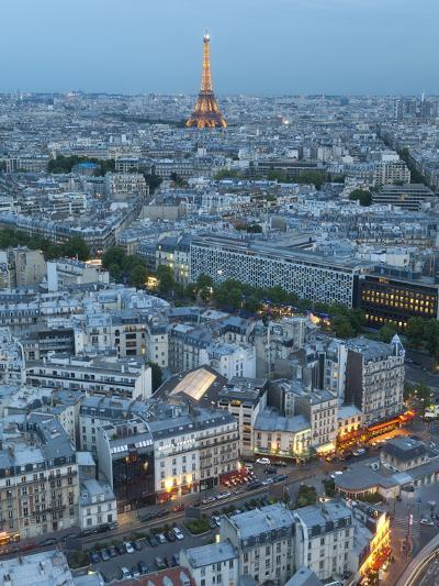 City and Eiffel Tower, Viewed over Rooftops, Paris, France, Europe-Gavin Hellier-Photographic Print