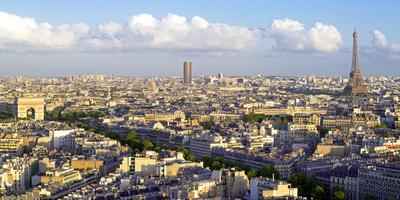 City, Arc De Triomphe and the Eiffel Tower, Viewed over Rooftops, Paris, France, Europe-Gavin Hellier-Photographic Print