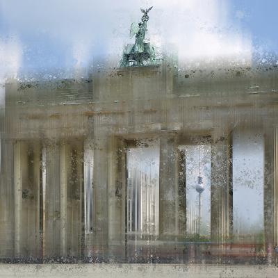 City Art Berlin Brandenburg Gate-Melanie Viola-Art Print