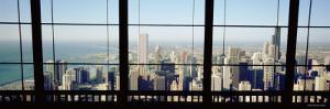 City as Seen through a Window, Chicago, Illinois, USA