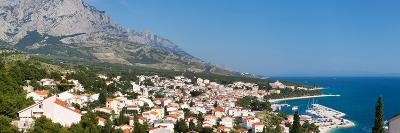 City at Coast, Baska Voda, Biokovo, Split-Dalmatia County, Croatia--Photographic Print