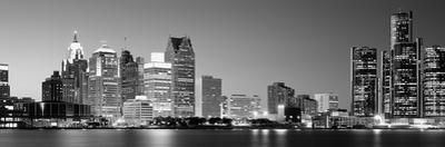 City at the Waterfront, Lake Erie, Detroit, Wayne County, Michigan, USA