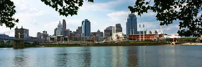 City at the Waterfront, Ohio River, Cincinnati, Hamilton County, Ohio, USA--Photographic Print