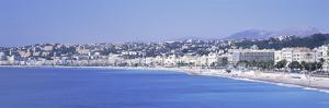 City at Waterfront, French Riviera, Nice, Alpes-Maritimes, Provence-Alpes-Cote D'Azur, France