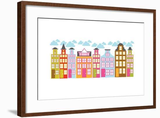 City Block II-Patty Young-Framed Art Print