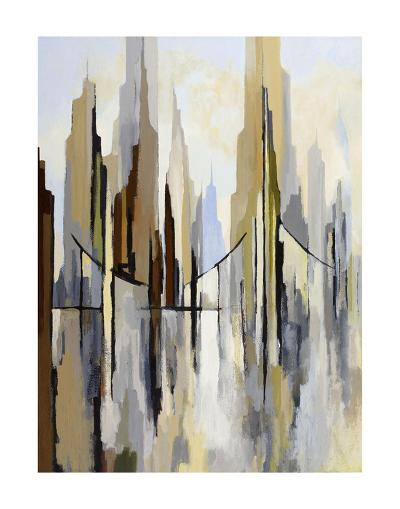 City Bridge (left)-Gregory Lang-Art Print