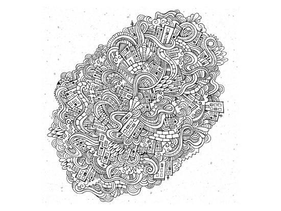 City Cartoon Doodles--Art Print
