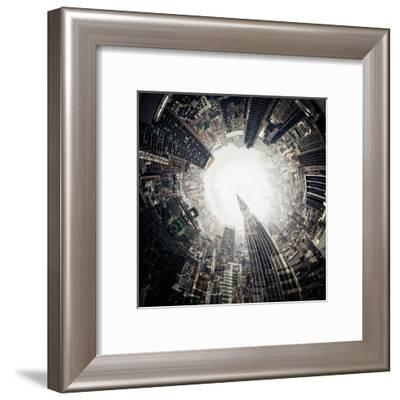 City Center II-Jean-François Dupuis-Framed Art Print