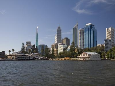 City Centre from the Swan River, Perth, Western Australia, Australia, Pacific-Nick Servian-Photographic Print