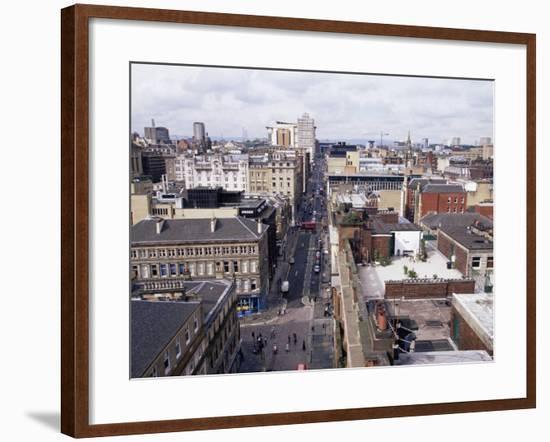 City Centre Skyline, Glasgow, Scotland, United Kingdom-Yadid Levy-Framed Photographic Print