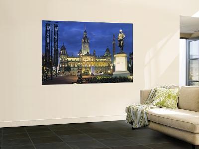 City Chambers, George Sq. Glasgow, Scotland-Doug Pearson-Giant Art Print