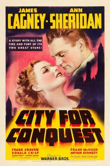 City For Conquest, Ann Sheridan, James Cagney, 1940--Art Print