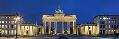 City Gate Lit Up at Night, Brandenburg Gate, Pariser Platz, Berlin, Germany--Photographic Print
