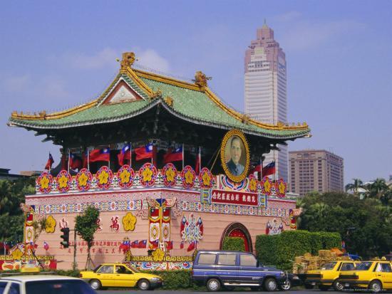 City Gate on Chungshan Road, Taipei, Taiwan-Charles Bowman-Photographic Print