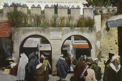 City Gates Leading to the Grand Socco Square, Tangier--Photographic Print
