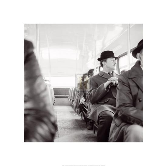 City Gent on the Top Deck of a Bus-Henry Grant-Art Print