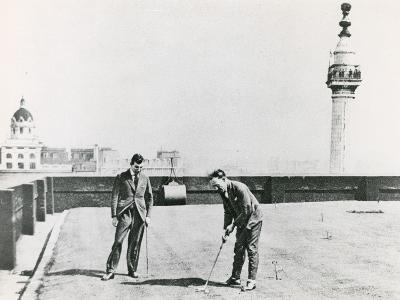 City Golfers Viewed from the Monument--Photographic Print