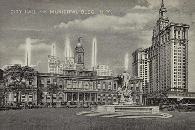 City Hall and Municipal Building, New York City, Usa--Giclee Print