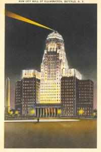 City Hall at Night, Buffalo