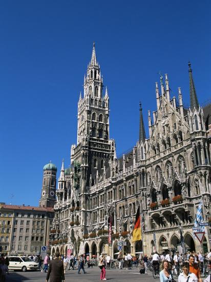 City Hall, Marienplatz, Munich, Bavaria, Germany-Yadid Levy-Photographic Print