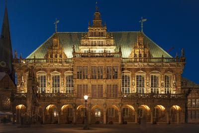 City Hall, Rathausplatz, Bremen, Germany, Europe-Chris Seba-Photographic Print