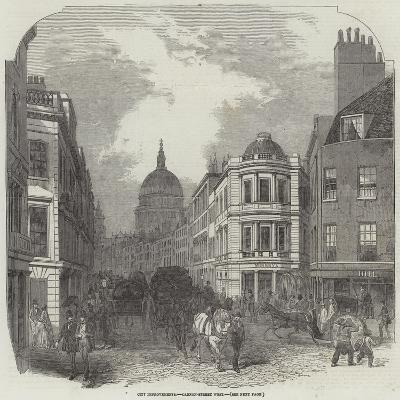 City Improvements, Cannon-Street West--Giclee Print