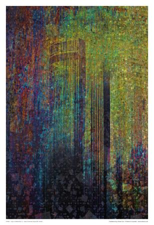 City In Abstraction II-Jean-Fran?ois Dupuis-Art Print