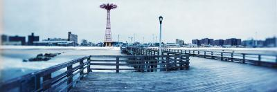 City in Winter, Coney Island, Brooklyn, New York City, New York State, USA--Photographic Print