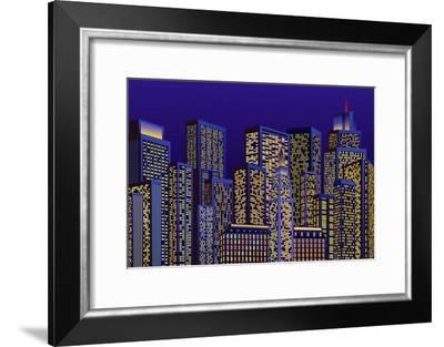 City Lights-Milovelen-Framed Art Print