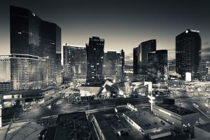City Lit Up at Dusk, Citycenter Las Vegas, Las Vegas Strip, Las Vegas, Nevada, USA