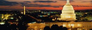 City Lit Up at Dusk, Washington D.C., USA