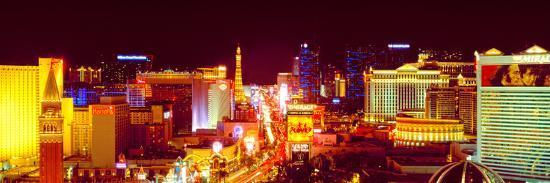 City Lit Up at Night, Las Vegas, Clark County, Nevada, USA--Photographic Print