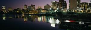 City Lit Up at Night, Newark, New Jersey, USA