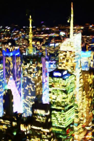 City Lit Up - In the Style of Oil Painting-Philippe Hugonnard-Giclee Print