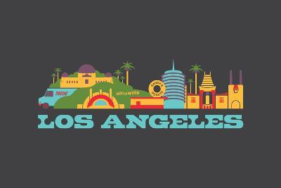 City Living Los Angeles Aspahlt--Art Print