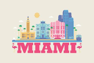 City Living Miami Natural--Art Print