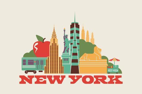 City Living New York Natural--Art Print