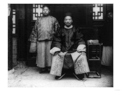 City Magistrate and Son in China Photograph - Chao, China-Lantern Press-Art Print