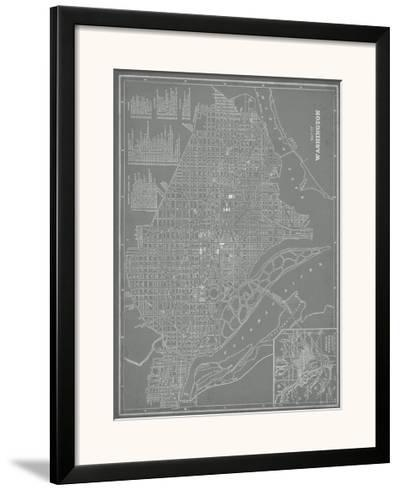 City Map of Washington, D.C.-Vision Studio-Framed Giclee Print