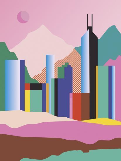City Mountain-Sophie Ledesma-Giclee Print
