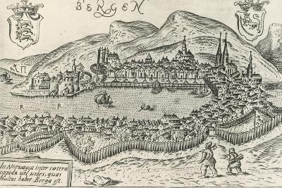 City of Bergen, 1580, Norway, 16th Century--Giclee Print