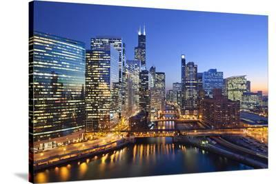 City of Chicago--Stretched Canvas Print