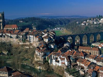 City of Fribourg, Switzerland-Walter Bibikow-Photographic Print
