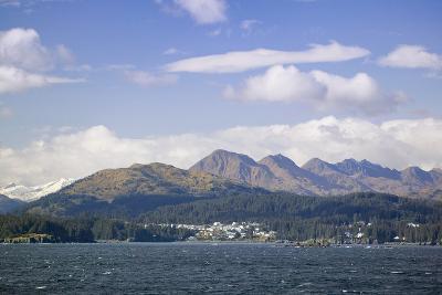 City of Kodiak on Monashka Bay Kodiak Island Gulf of Alaska Southwest Alaska Autumn-Design Pics Inc-Photographic Print